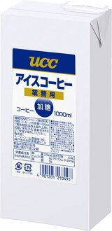 UCC coffee ice cream commercial sweetened 1 L cartons 6 pieces [1000 ml.