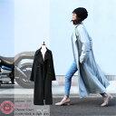 【 チェスターノッチコート 】 ゆったりストレート ウール50% レディース アウター コート マキシ ロング 2カラー