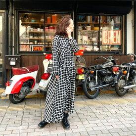【 A リネン ワンピース 】 爽やかな大人のリネン  羽織りにして 3カラー チェック模様 2着丈 レディースファッション ワンピース マキシ ロング 長袖