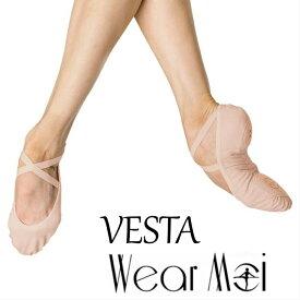 【Wear Moi ウェアモア】VESTA ヴェスタ 標準幅 スプリットストレッチキャンパス バレエシューズ(標準幅タイプ)キャンバススプリットソールバレエシューズ シューズ バレエ