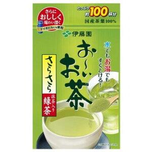 【店内P最大20倍】伊藤園 お〜いお茶 抹茶入りさらさら緑茶 80g入 粉末 お茶 緑茶 りょくちゃ 通販