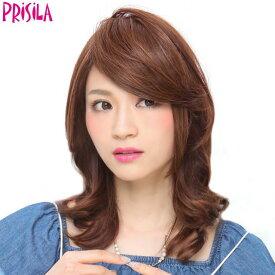 【店内P最大20倍】プリシラ 前髪ウィッグ【リッチレイヤード様】FX-07耐熱 (メール便送料無料)