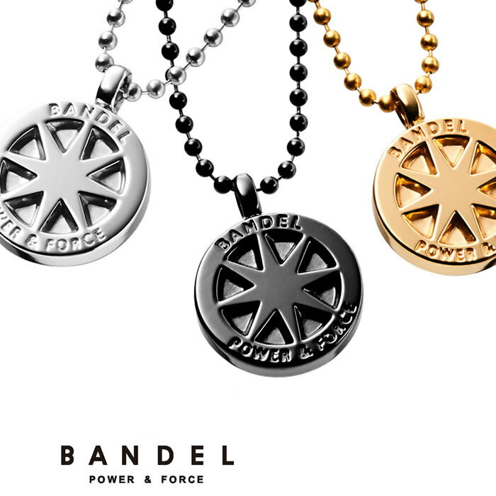 バンデル チタンネックレス【送料無料】【正規販売店】BANDEL necklace 首 ゴールド シルバー ブラック 純チタン製アクセサリー