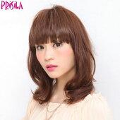 前髪ウィッグぱっつんちゃんFX-01(PRISILAプリシラウィッグ)ウィッグエクステかつらつけ毛コスプレ変身プリシラポイントカツラ部分ワンタッチ