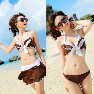●Three points of SALE ● deep-discount set swimsuit bikini figure cover swimsuit Lady's ZSM-104 of this month