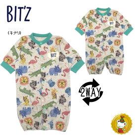 ビッツ〔BIT'Z〕動物柄2WAYドレス(キナリ)(50cm〜70cm)