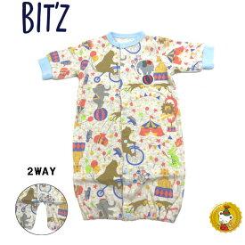 ビッツ〔BIT'Z〕サーカス柄2WAYドレス(キナリ)(50cm-60cm)
