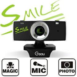 ★[送料無料]≪SMILE≫リピーター続出最大500万画素の高画質WEBカメラ GSOU B18S (ウェブカメラ PCカメラ USBカメラ) USB接続 マイク内蔵 skype(スカイプ) やmsnメッセンジャー、テレビ電話にも対応