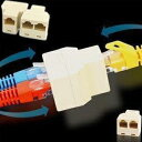 [送料無料][分配]LANケーブル用中継コネクタ LANケーブルの中継・延長に RJ45コネクタ(メス) 2台のパソコンをネットワークに接続/共有 RJ45 オ...