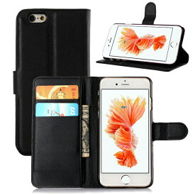 ▽[送料無料]iPhone6/iPhone6S保護カバーケース高級感あるPU革レザータイプ手帳型カード収納機能付きフリップケースお札収納ポケット付きアイフォン6スマホケース手帳型16GB32GB64GB128GBdocomoausoftbankSIMフリー機種対応4.7型4.7インチモデル番号:A1549A1586A1589