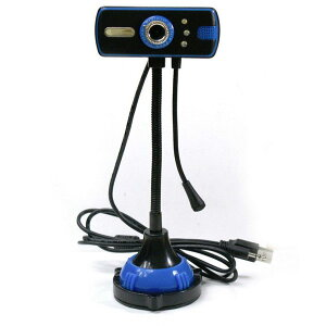 ★[送料無料]≪長方形型≫自由自在なフレキシブルアームと吸盤固定高画質CMOS搭載 360度回転 WEBカメラ(ウェブカメラ PCカメラ USBカメラ Webcamera) USB接続 マイク搭載 skype(スカイプ)やmsnメッ