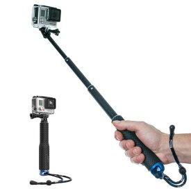 [送料無料][伸縮調節/4段階固定]一脚構造応用高性能自撮り棒ハイアングル撮影棒SmatreeGoProHERO8blackHERO7MAXHERO6HERO5HERO4HERO3DJIOsmoActionSJCAMRICOHTHETAZ1THETAVTHETASTHETASCInsta360ONEX等動画実況モノポッドポールセルフィーねじってロック[最短15cm/最長45cm]