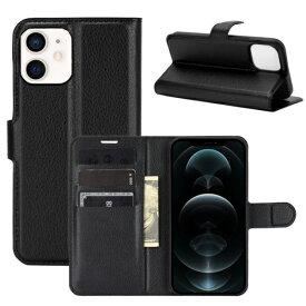 [送料無料]iPhone12 mini専用保護カバーケースPU革レザータイプ手帳型カード収納付きフリップケース札ポケット付アイフォン12ミニスマホケース手帳型128GB256GB512GBdocomoausoftbankSIMフリー機種対応5.4型5.4インチモデル番号:A2176/A2398/A2400/A2399