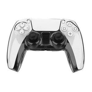 ★[送料無料]PS5 DualSenseワイヤレスコントローラー用コントローラークリスタル透明カバーケース スタンド ソニー プレイステーション5 PlayStation 5 CFI-1000A01/CFI-1000B01 CFI-ZCT1Jシリーズ対応 強度