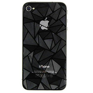[送料無料]3Dデコレーションダイヤモンド小粒ラメ仕様iPhone4S/iPhone4液晶保護背面フィルムシート汚れ指紋が目立たないスクリーンプロテクター保護フィルムAppleiPhone4S/iPhone4アイフォンケース[i