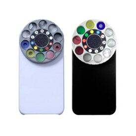 [送料無料]アプリを使用しながら撮影すると、楽しみ方は無限大iPhone 4/4Sで一眼レフカメラ/トイカメラの様なプロ並の写真撮影ができる10種類エフェクト仕様ターレット式アクセサリー 特殊レンズ&フィルター(カラー:ブラック/ホワイト)