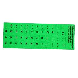 ▽[送料無料]暗い場所で入力作業に最適 キーボードにそのまま貼る英字キーボードレイアウトシール 蛍光 蓄光性 夜光塗料 暗闇で光るキーボード シール ステッカー デスクトップPC ノートパソコン どうしても暗い場所でPCの作業 glow luminous paint keyboard sealstickers