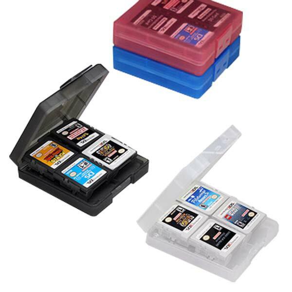 [送料無料][ソフト16枚収納]ニンテンドー3DS用/2DS/DS用カードを収納可能なカードケース 大容量なのに薄型軽量 クリア素材で収納したままゲームのタイトルが確認可能 ソフト出し入れも簡単 Nintendo 3DSLL/3DS/DSi/DSLite[カラー:クリア/ブラック/ブルー/ピンク]