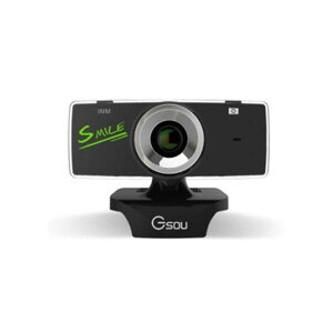 ★[送料無料]≪SMILE≫リピーター続出最大500万画素の高画質WEBカメラ GSOU B18S (ウェブカメラ PCカメラ USBカメラ) USB接続 マイク内蔵 Zoom(ズーム)skype(スカイプ) やmsnメッセンジャー オンライン