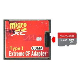 [送料無料][赤]1枚差しマイクロSDメモリが大容量コンパクトフラッシュに早替わりMicroSD⇒CFカード変換アダプタ シリーズ SD(MMC)/SDHC/SDXCメモリ対応可能 最大2TB 1GB/2GB/4GB/8GB/16GB/32GB/64GB/128GB/256GB/512GB/1TB/2TB デジタルカメラ 一眼レフカメラ ビデオ