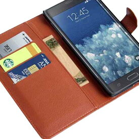 [送料無料]サムスン GALAXY Note Edge (SC-01G SCL24) 初代ギャラクシーノート用スマホ(スマホ) 保護カバーケース 高級感あるアダルト仕様 PU革レザータイプ 手帳型 カード収納機能付きフリップケース お札収納ポケット付き 全8色