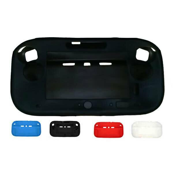 [送料無料]WiiU GamePad液晶画面保護シートも付いてくるNintendo WiiU専用シリコンGamePad(ゲームパッド/タブレット)ソフトカバーケース+液晶保護シート豪華セット 大切名をWiiU(ウィーユー)を埃や傷や汚れから守シリコン仕様で滑らずGamePad本体をカバー