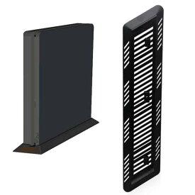 [送料無料][Slim/ネジ留可]新型PS4用本体収納スタンド取付簡単テレビ周りスッキリ縦置き安定させるスタイリッシュスタンドデザイン性を損なわぬようスタイリッシュかつコンパクトに設計した縦置きスタンドソニープレイステーション4SONYPlayStation4CUH-2000シリーズ対応
