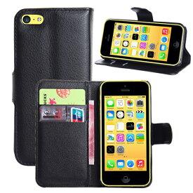 [送料無料]iPhone 5c用スマホ(スマートフォン) 保護カバーケース 高級感あるPU革レザータイプ 手帳型 カード収納機能付きフリップケース お札収納ポケット付き モデル番号:A1456 A1507 A1516 A1529 A1532