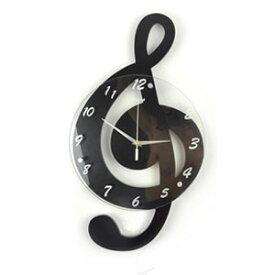 ★[送料無料]インテリア 壁掛け時計[ト音記号かけ時計]ウォールクロック オシャレ 音符 デザイン 掛時計 かわいい クロック オフィス プレゼント ブルー レッド グリーン ブラック ホワイト 贈り物