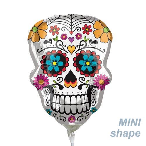手持ちプロップスにハロウィン シュガースカルバルーン WITH スティック メキシカン リメンバーミー 死者の日 デスパーティー