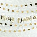 あす楽!メール便送料無料【GingerRay】クリスマス MERRY CHRISTMAS スクリプト ゴールド ガーランド