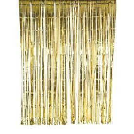 ロンドンから届いた【TalkingTables】 ブライダル・お誕生日会などにおしゃれなグリッターゴールド ホイルカーテン 2×2メートル
