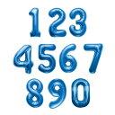 ガーランドや、プロップスに40センチのプレミアムナンバーバルーン ブルー