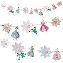 あす楽!【I'm a Princess】プリンセスパーティーにとってもかわいいお花とプリンセスのガーランド
