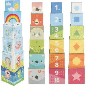【つみかさねブロック ユーカリのなかまたち】積み重ね ブロック 紙製 数字 おもちゃ 動物 赤ちゃん 0歳以上 | ベビー 人気 おしゃれ かわいい 輸入玩具 子供 プレゼント クリスマス 誕生日