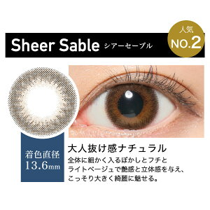 ReVIA1dayCOLOR/SheerSable-シアーセーブル-