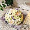 お花のドーム型ケーキ(チーズケーキ味)【ケーキ インスタ映え ケーキ スイーツ バタークリームケーキ 誕生日ケーキ …