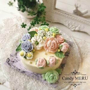ウエディングローズとチャイナローズケーキ(チーズケーキ味)【バタークリームケーキ インスタ映え ケーキ スイーツ 誕生日ケーキ バースデーケーキ ホールケーキ 美味しいケーキ チー