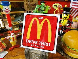 マクドナルド VIPドライブスルーステッカー ■ アメリカ雑貨 アメリカン雑貨