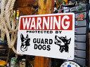 アメリカのプラスチックサインボード ヘビーオンスタイプ(番犬に注意) ■ アメリカ雑貨 アメリカン雑貨 壁掛け 壁飾…