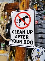 アメリカのプラスチックサインボードヘビーオンスタイプ(犬のマナーは守りましょう)★アメリカ雑貨★アメリカン雑貨