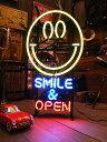 【全国送料無料】【即納】【在庫あり】スマイルオープンのネオン管 ■ 【6ヶ月保証付き】 ■ ショップ仕様の本格派! …