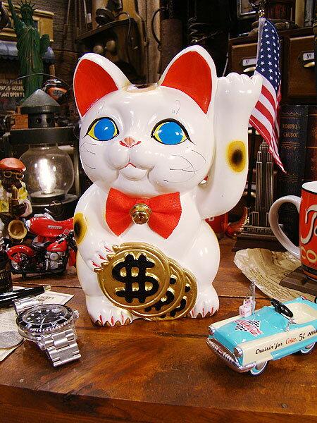 アメリカ版招き猫ダラーキャット★アメリカ雑貨★アメリカン雑貨