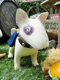 ブルテリアのウッドオブジェ(ママブルテリア) ■ アメリカ雑貨 アメリカン雑貨 木彫り 木彫りの動物 いぬ 犬の置き物 インテリア置物 飾り ウッドオブジェ 彫刻 木製デコレーション インテリア 雑貨 おしゃれ