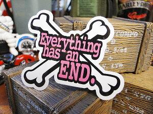 コトワザステッカー(何事にも終わりはある) ■ 自分仕様だから愛着も強くなる! こだわり派が夢中になる人気のアメリカ雑貨屋 ステッカー おしゃれ おもしろ アメリカン雑貨 車 バイク