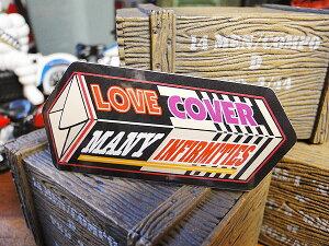 コトワザステッカー(愛は多くの欠点を覆う) ■ 自分仕様だから愛着も強くなる! こだわり派が夢中になる人気のアメリカ雑貨屋 ステッカー おしゃれ おもしろ アメリカン雑貨 車 バイク