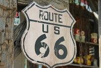 昔のルート66のウッドサイン(ルート66/ルート)★アメリカ雑貨★アメリカン雑貨
