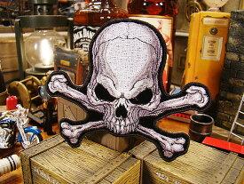 アメリカンバイカーズワッペン(Pirate Skull & Crossbones) ■ アメリカ雑貨 アメリカン雑貨