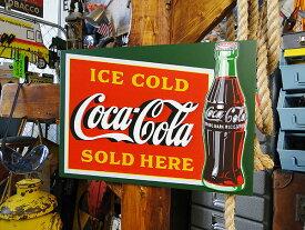 コカ・コーラ ウッドサイン(ICE COLD SOLD HERE) ■ コカコーラグッズ 木製 看板 サインプレート アメリカ看板 雑貨 グッズ ブランド Coca-Cola アメリカ雑貨 アメリカン雑貨 コーラ 置物 インテリア おしゃれ 人気 小物 アンティーク アメリカン 壁掛け