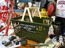 ミリタリーマーケットバスケット(Lサイズ) ■ アメリカ雑貨 マイカゴ アメリカン雑貨 買い物カゴ アメリカ 雑貨 イ…